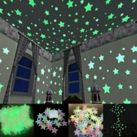 NA Sticker Star Glow in the Dark Star / Bintang Menyala Dalam Gelap / Stiker Bintang Isi 30