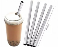 NA Sedotan Bubble Stainless Steel / Sedotan Boba Reusable