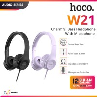 HOCO W21 Wired Headphone with Mic Smooth Clearly Bass