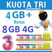 Tri Data inject - 4GB + 4GB + 2GB + Youtube