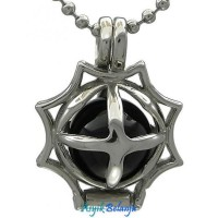 Kalung Gothic - Black Fire Ball