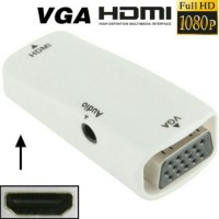 Adapter Dongle HDMI Female to VGA Female With Audio Full HD Converter