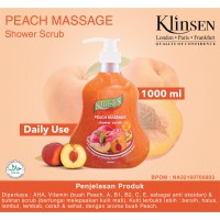 Klinsen Shower Scrub Peach Massage 1000ml - Sabun Mandi Cair