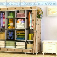 Lemari Rak Pakaian/  Baju Portable / Multifuction Wardrobe Jumbo Super