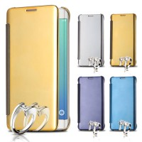 Clear View Flip Smart Cover Flip Case Mirror Casing Sarung For Samsung J7 Prime