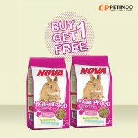 Buy 1 Get 1 Nova Rabbit Food - 1kg