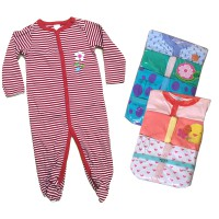 Sleepsuit Next 3 in 1 - Unisex - Newborn - 12M - Baby Sleepsuit - isi 3pcs