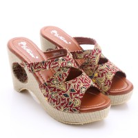 Dr.Kevin Canvas Sandals 27254 Red