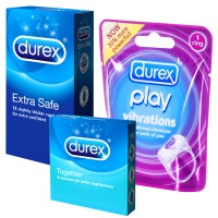 Durex Play Vibrations Ring, Durex Extra Safe @ 12 pcs & Durex Together @ 3 pcs