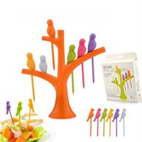 Bird Fruit Fork / Garpu Buah / Holder Tusuk Buah Unik