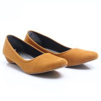 Dr.Kevin Suede Flat Shoes Ladies 4356 Tan