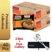 2 Dus @20 Pcs - Indomie Real Meat Ayam Lada + Free Cutlery