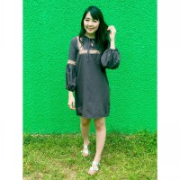 New Collection / Woman Fashion / Cameo Embroidery Dress / 2 Warna / Cotton Denim / Good Quality !!!