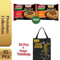 10 Pcs - Indomie Real Meat Mixed Flavor + Free Tote Bag