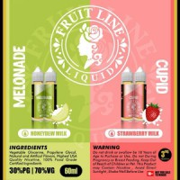 Fruit Line - MELONADE - Melon Milk - 60ml 3mg Liquid murah banyak vape
