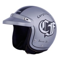 Helm  Retro Cargloss Forever Silver Glossy