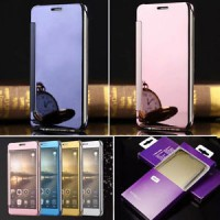 Flip Case Mirror Samsung Galaxy S5 Cover Hard Backcase Slim Electroplating Casing