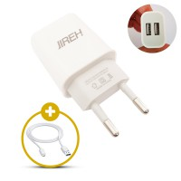 Jireh Charger Adaptor Fast Charging JR-01 2.0A Dual Outp