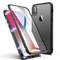Electro Magnet Double Glass iPHONE XS MAX - iPHONE XS MAX MAGNETIC Case Cover