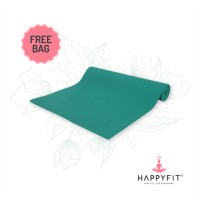 HAPPYFIT MATRAS YOGA 6MM TEAL GREEN (GRATIS TAS)/PVC MAT(FREE BAG)