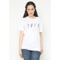 Mobile Power Ladies Embroidery T-shirt - White AG104