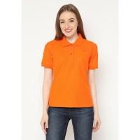 Mobile Power Ladies Polo T-Shirt Wangki - Orange AG116