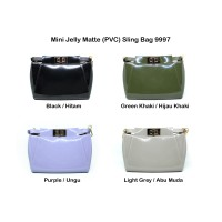 JM9997 Tas Fashion Jelly Matte Mini 18 Cm Selempang Sling Wanita Import