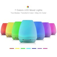 Essential Oil Aroma Diffuser 7 Colors LED Night Light-100 Ml