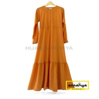 Gamis Cantik Rempel Aisyah (gamis only) - Navy