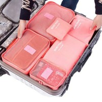 travel bag 6 in1 set storage baju kotor organizer koper luggage
