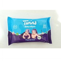 Twins Baby Wipes Fresh and Clean 20's