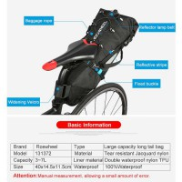 Roswheel Attack Tas Sepeda touring bike bag Polyester 7L waterproof