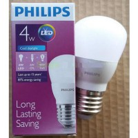 Lampu LED Philips 4 watt Bohlam 4w / Philip Putih 4 w Bulb LED 4watt SJ0020