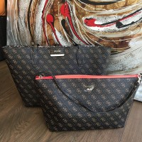 TOTEBAG GUESS BROWN LEOPARD