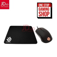 STEELSERIES Optical Gaming Mouse Rival 95 Free Qck Mini Mousepad