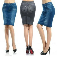 Rok Mini Jeans / Genie Shape Skirt Jeans / Denim Shape Skirt / Rok Pelangsing