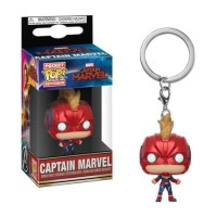 Funko POp Keychain: Marvel - Captain Marvel with Helmet