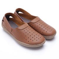 Dr.Kevin Loafer Women Shoes Leather : 43128 Blue, Brown