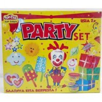 FUN DOH PARTY SET / FUNDOH mainan lilin cetakan pesta