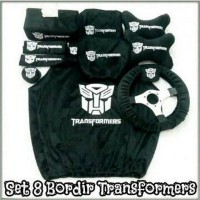 Bantal Mobil Exclusive 8 in 1 Transformers Hitam