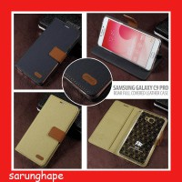 Samsung Galaxy C9 Pro Roar Full Covered Leather Case Casing Cover