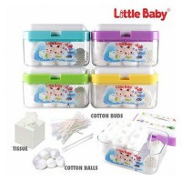 LITTLE BABY MULTIFUNCTION BOX 3IN1/ TEMPAT KAPAS BAYI