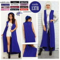 LONG VEST LONG OUTER LONG CARDIGAN TANPA LENGAN SLEEVELESS LONG CARDI