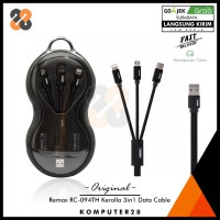 Remax RC-094TH Kerolla 3in1 Data Cable - Kabel iPhone Type-C MicroUSB