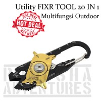 UTILITY FIXR POCKET TOOL 20 IN 1 SURVIVAL CAMPING MULTIFUNGSI OUTDOOR