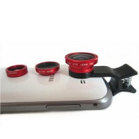 Lesung Universal Clip Lens Fisheye 3 In 1 ( 180 Degree Fisheye + Super Wide + Macro ) For Smartphone