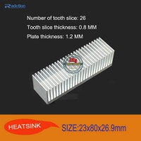 [globalbuy] 1pcs/lot 23x80x26.9mm Aluminum heatsink for LED IC GPU RAM CPU VGA Power ampli/2838261