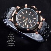 Jam Tangan Pria / Jam Tangan Murah GC Atlantis Black Rose Color + Box
