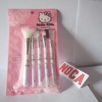 Set Kuas HelloKitty MakeUp Brush Hello Kitty Pink 5in1