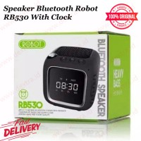 Speaker Bluetooth Robot RB530 With Clock